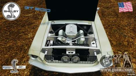 Shelby GT 500 for GTA 4 inner view