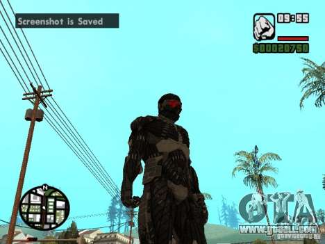 Crysis Nano Suit for GTA San Andreas third screenshot