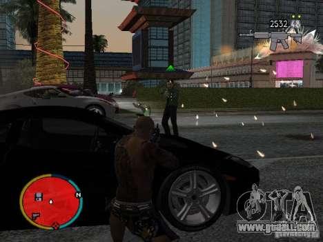GTA IV HUD v2 by shama123 for GTA San Andreas third screenshot