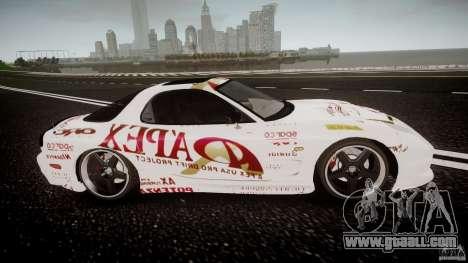 Mazda RX7 FD Apex Imamura for GTA 4 inner view