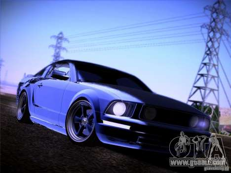 Ford Mustang GT 2005 for GTA San Andreas inner view