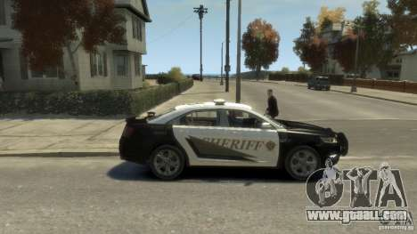 Ford Taurus Sheriff 2010 for GTA 4 back left view