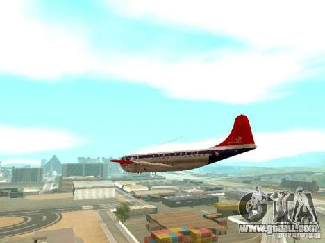Boeing 377 Stratocruiser for GTA San Andreas right view