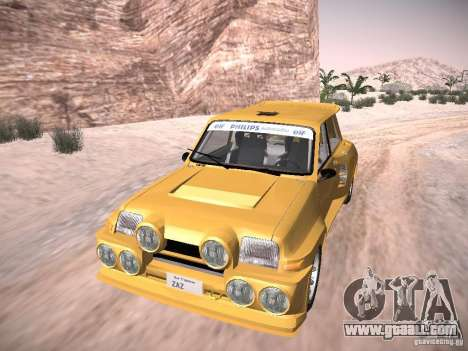 Renault 5 Turbo for GTA San Andreas