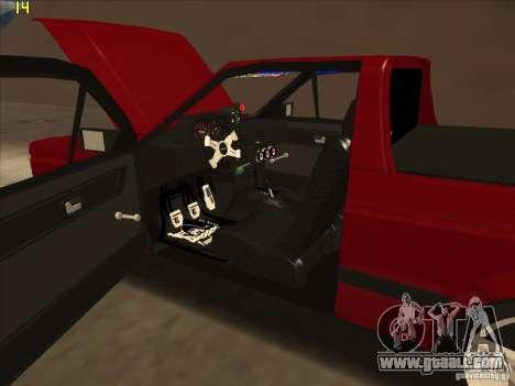 Volkswagen Saveiro Summer for GTA San Andreas inner view
