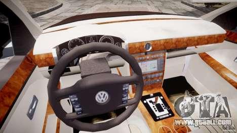 Volkswagen Phaeton W12 Long for GTA 4 upper view
