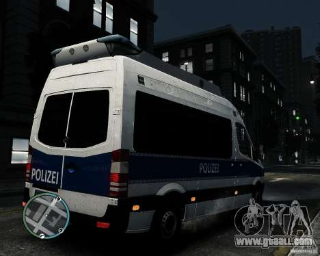 Mercedes Sprinter German Police for GTA 4 right view