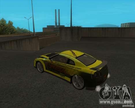 Nissan GTR35 for GTA San Andreas left view