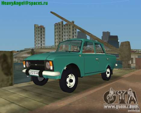Moskvitch IZH 412 for GTA Vice City