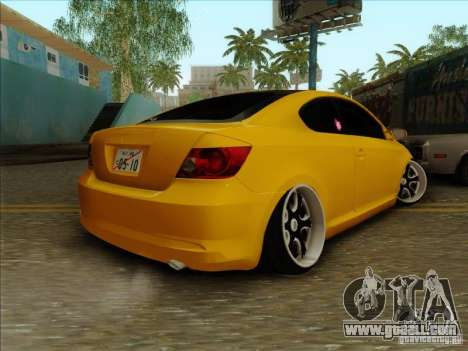 Scion tC 2012 for GTA San Andreas left view