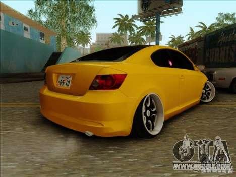 Scion tC 2012 for GTA San Andreas left view