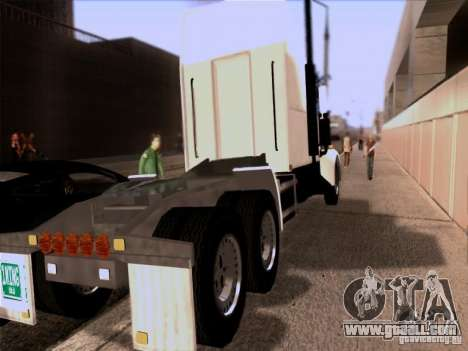Western Star 4900EX skin 1 for GTA San Andreas back left view