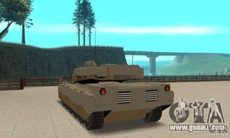 Lame nel Rhino tank for GTA San Andreas back left view