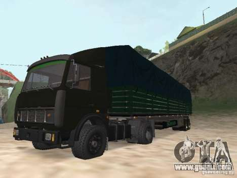MAZ 5432 for GTA San Andreas back view