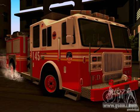 Pumper Seagrave Marauder F.D.N.Y for GTA San Andreas left view