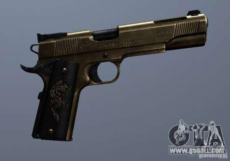Golden 1911 for GTA San Andreas forth screenshot