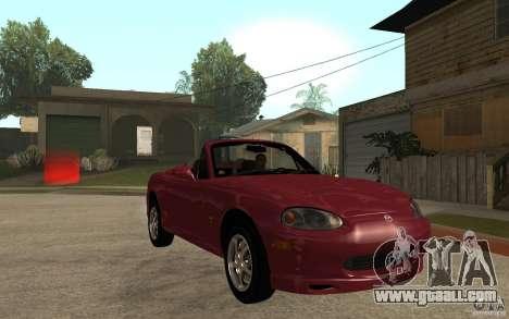 Mazda MX5 - Stock for GTA San Andreas back view