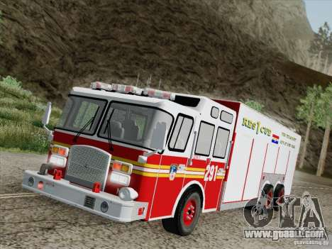 E-One F.D.N.Y Fire Rescue 1 for GTA San Andreas bottom view