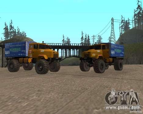 Kraz Monster for GTA San Andreas back left view