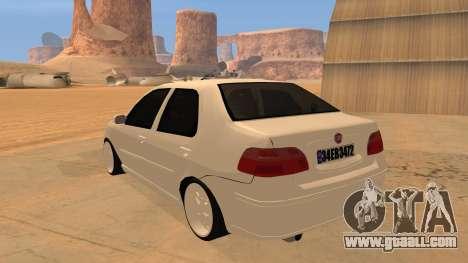 Fiat Albea for GTA San Andreas back left view