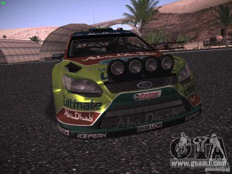 Ford Focus RS WRC 2010 for GTA San Andreas upper view