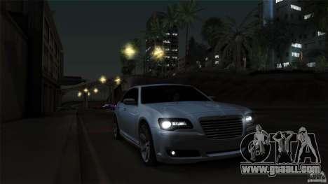 Chrysler 300C V8 Hemi Sedan 2011 for GTA San Andreas upper view