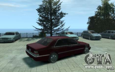Mercedes-Benz S600 W140 for GTA 4 right view