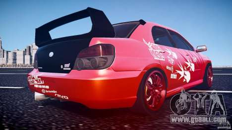 Subaru Impreza WRX STI for GTA 4 bottom view