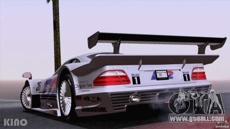 Mercedes-Benz CLK GTR Road Carbon Spoiler for GTA San Andreas upper view