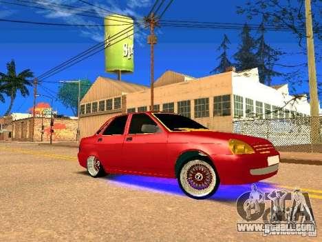 LADA 2170 Priora Gold Edition for GTA San Andreas upper view