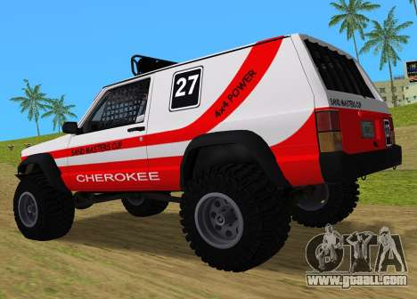 Jeep Cherokee 1984 Sandking for GTA Vice City back left view