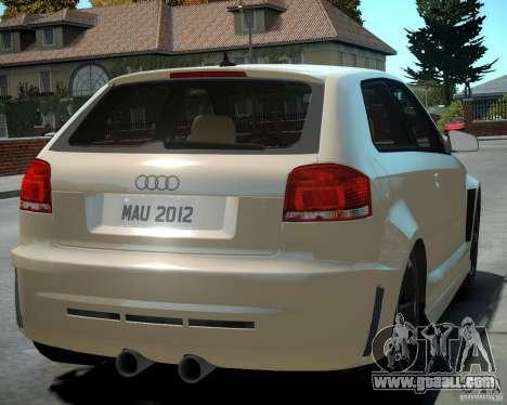Audi S3 v2.0 for GTA 4 right view