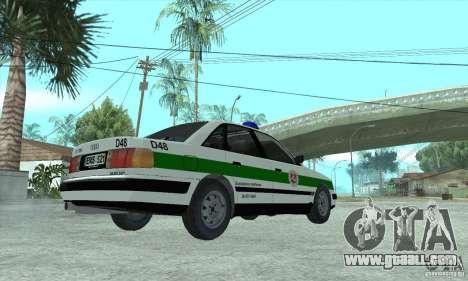Audi 100 C4 (Cop) for GTA San Andreas left view