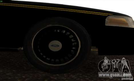 Ford Crown Victoria Alaska Police for GTA San Andreas right view