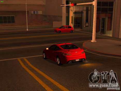 Hyundai Genesis Coupé 3.8 Track v1.0 for GTA San Andreas inner view