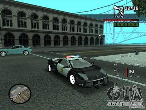 Lamborghini Murcielago Police for GTA San Andreas side view
