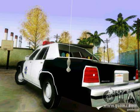 Ford Crown Victoria LTD 1991 SFPD for GTA San Andreas back left view
