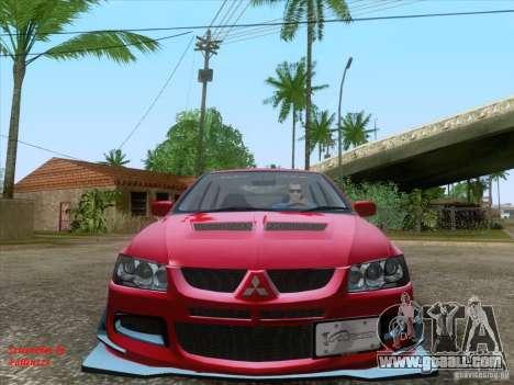 Mitsubishi Lancer Evolution VIII Varis for GTA San Andreas