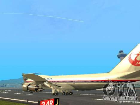 Boeing 747-100 Japan Airlines for GTA San Andreas back left view