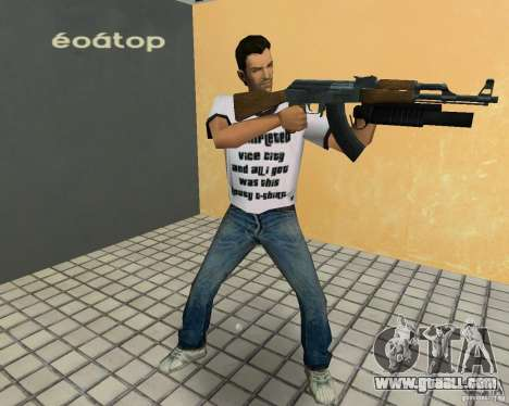 AK-47 with a grenade launcher М203 for GTA Vice City forth screenshot
