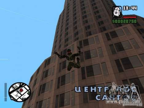 Crysis Nano Suit for GTA San Andreas eighth screenshot
