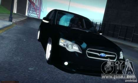 Subaru Legacy BIT edition 2004 for GTA San Andreas inner view