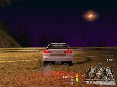 Mitsubishi Lancer Evolution X DPS for GTA San Andreas right view