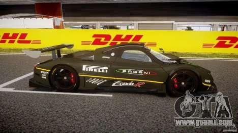 Pagani Zonda R 2009 for GTA 4 inner view