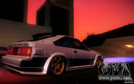 Toyota Supra Drift for GTA San Andreas interior