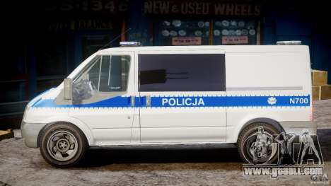 Ford Transit Polish Police [ELS] for GTA 4 left view