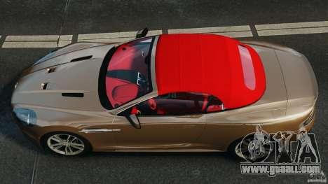 Aston Martin DBS Volante [Final] for GTA 4 right view