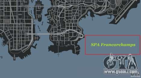 SPA Francorchamps [Beta] for GTA 4 eleventh screenshot