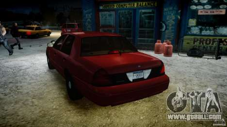 Ford Crown Victoria Detective v4.7 red lights for GTA 4 interior