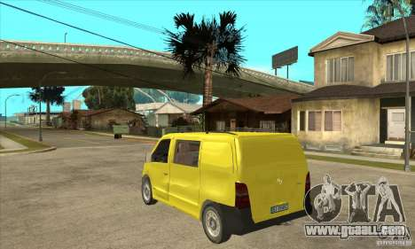 Mercedes-Benz Vito 112CDI for GTA San Andreas back left view